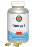 Omega-3 Fischöl 1000mg, 120 Weichkapseln