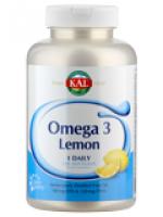 """Omega-3 Fischöl """"Zitrone"""", 120 Weichkapseln"""